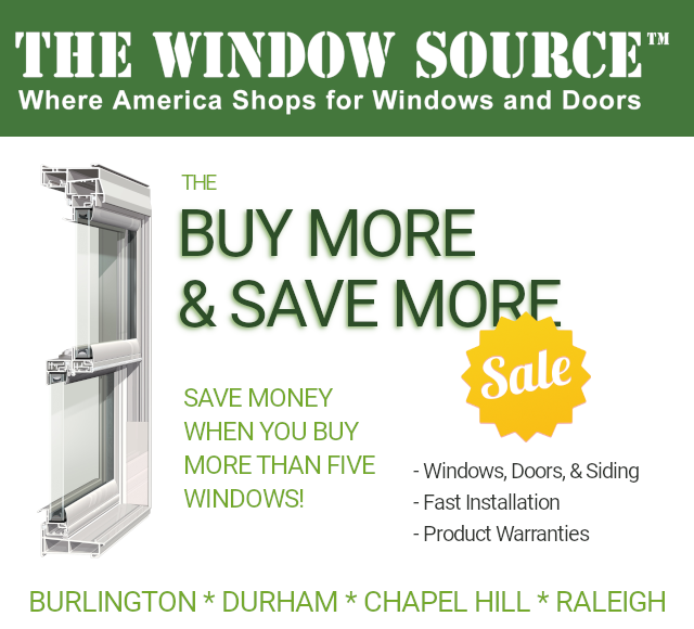 Save Money On Double Hung Windows in Burlington, Chapel Hill, Durham, & Raleigh